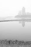 Удить около реки Стоковое Изображение RF