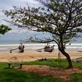 удить шлюпок пляжа Стоковое фото RF