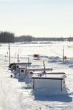 Удить для tomcod в Квебеке Стоковое Фото