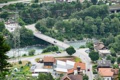 Улица автомобиля моста Стоковое Изображение