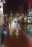 Улица Амстердама после дождя стоковые фотографии rf