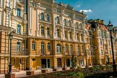 Улица ландшафта в Киеве, Украине Стоковое Фото