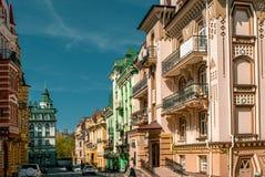 Улица ландшафта в Киеве, Украине Стоковые Фотографии RF