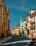 Улица ландшафта в Киеве, Украине Стоковые Фото