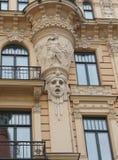Улица Альберты 13 части фасада здания Nouveau искусства Стоковые Изображения