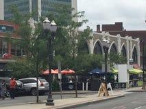 Улица Бедфорда в Stamford, Коннектикуте Стоковая Фотография