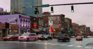 Улица Бродвей в Нашвилле Стоковое фото RF