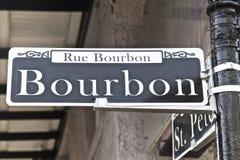 Улица Бурбона, Новый Орлеан Стоковая Фотография