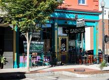 Улица Бурбона, Уилмингтон, NC Стоковая Фотография