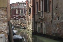 Улица Венеции в предыдущем сентябре 2016 стоковые изображения rf