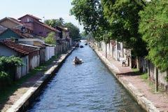 Улица водяного канала в Negombo Стоковая Фотография RF
