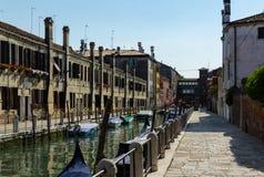 Улица в Венеции Стоковое Изображение RF