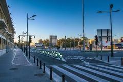 Улица в город †Валенсии» в Испании, столице автономного co Стоковые Фотографии RF