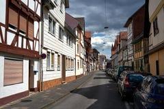 Улица в городе Eschwege, Германия Стоковое Изображение
