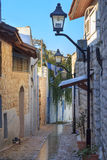 Улица в городе Zefat (Safed), северном Израиле Стоковые Изображения