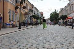 Улица в западной Беларуси Стоковые Изображения RF