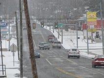 Улица в зиме Стоковое Фото