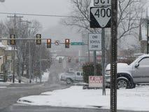 Улица в зиме Стоковое Изображение RF