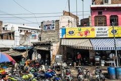 Улица в Индии Стоковое Изображение RF
