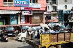 Улица в Индии Стоковая Фотография