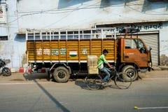 Улица в Индии Стоковые Изображения RF