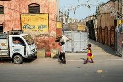 Улица в Индии Стоковые Изображения