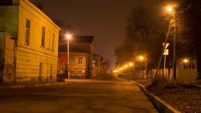 Улица в исторической части Tver Стоковые Фотографии RF