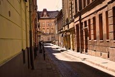 Улица в Львове, Украине Стоковая Фотография
