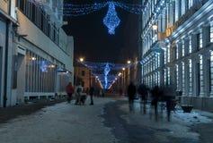 Улица в ноче Стоковое Фото