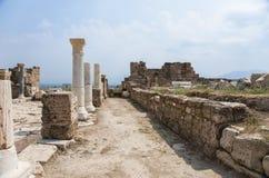 Улица в древнем городе Laodikeia Стоковые Фотографии RF