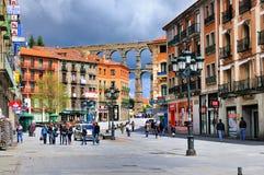 Улица в Сеговии, Испании Стоковое Изображение RF