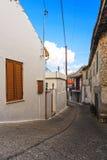 Улица в среднеземноморском Стоковое фото RF