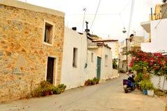 Улица в старой части Malia Стоковое Фото