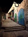 Улица в старом городке, Иерусалиме, Израиле Стоковое Фото