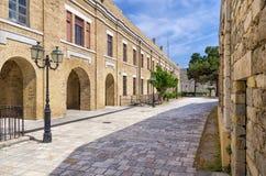 Улица в старом городке острова Корфу Стоковое фото RF