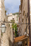 Улица в старом городке Дубровника Стоковое фото RF