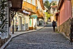 Улица в старом городке Стоковая Фотография RF