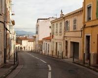 Улица в старом историческом квартале марселя Стоковая Фотография RF
