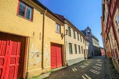 Улица в Тронхейме, Норвегии стоковое изображение