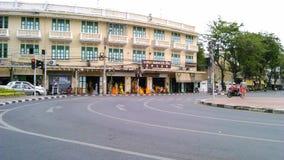 Улица в центре  Бангкока Стоковое Фото