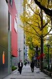 Улица в центре города в Sendai, Японии Стоковые Фото