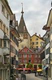 Улица в Цюрихе стоковые изображения rf