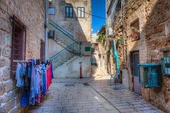 Улица в Akko стоковые изображения rf