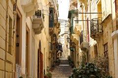 Улица в Birgu Стоковая Фотография RF