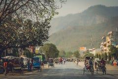 Улица в Butwal стоковое фото rf