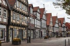 Улица в Celle, Германии Стоковое Фото