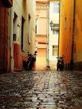 Улица в Eger, Венгрии Стоковое фото RF
