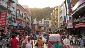 Улица в Hariswar сток-видео