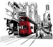 Улица в Hong Kong Стоковые Изображения