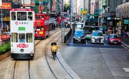 Улица в Hong Kong Стоковая Фотография RF